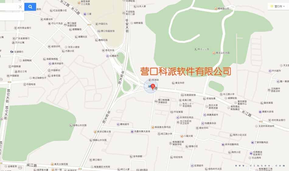 营口科派软件有限公司地理位置优越,鲅鱼圈立交桥东侧,青龙山公园正门对面!