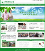 绿色网站模板-老年公寓-洋河镇网络公司推荐、2017绿色模板成品站