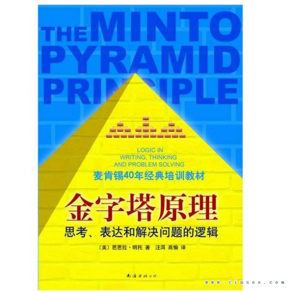 在这里,小宇哥就给你讲讲这本书好在哪里,并可以给我们做产品运营带来什么?   首先我来简单概括一下金字塔原理定义以及他能解决什么问题   金字塔原则就是,任何事情都可以归纳出一个中心论点,而此中心论点可由三至七个论据支持,这些一级论据本身也可以是个论点,被二级的三至七个论据支持,如此延伸,状如金字塔。而中间的从上至下,还是自下到上,都是一个分析问题和解决问题的过程。   它主要帮助我们在思考做事情的时候,逻辑清晰、层次分明,以及在沟通方式上,做到观点鲜明、重点突出、简单易懂,让受众有兴趣,能理解,记